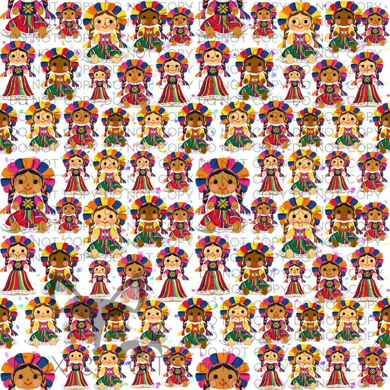 Mexican Doll Fabric