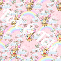 Rainbow Butterfly Fabric