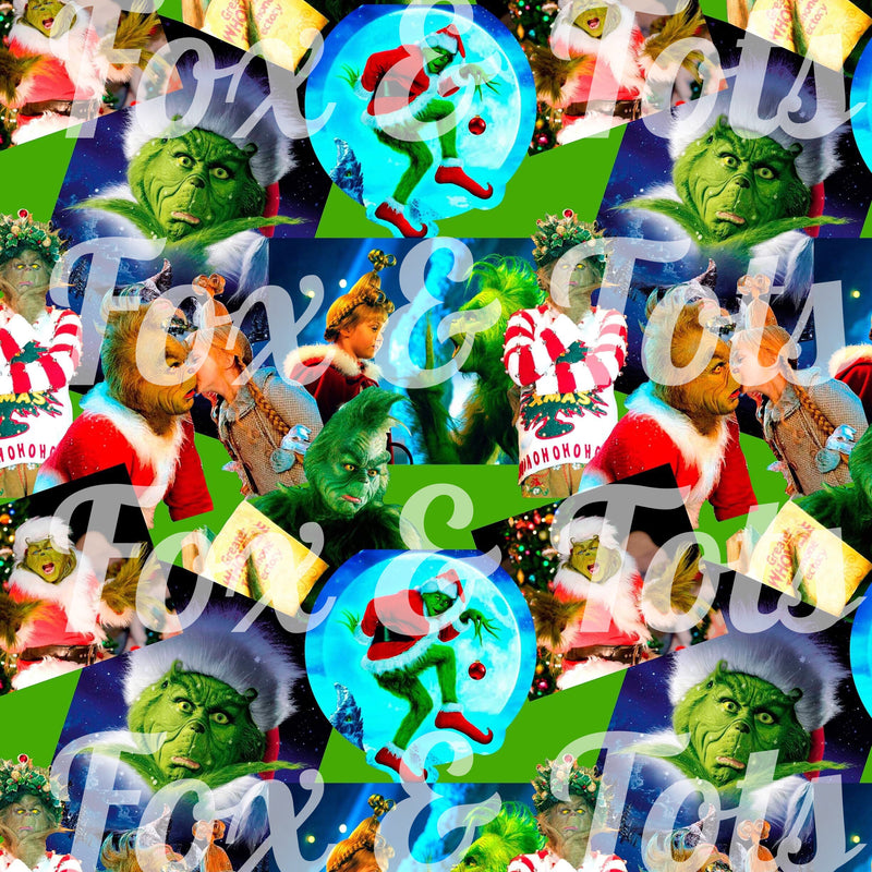 Carrey Grinch Fabric