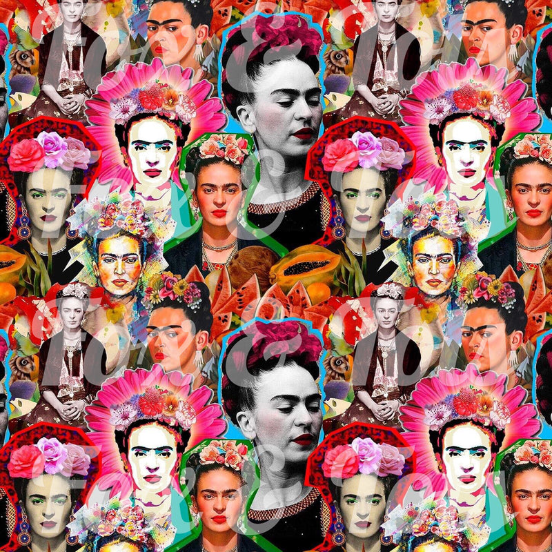 Frida Pop Art SMALL SCALE Fabric