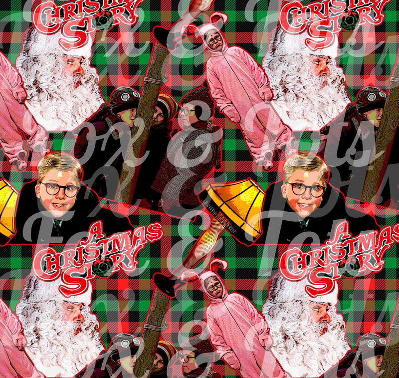Plaid Christmas Story Fabric