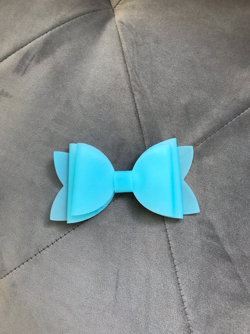 Large Neon Blue Pool Bow