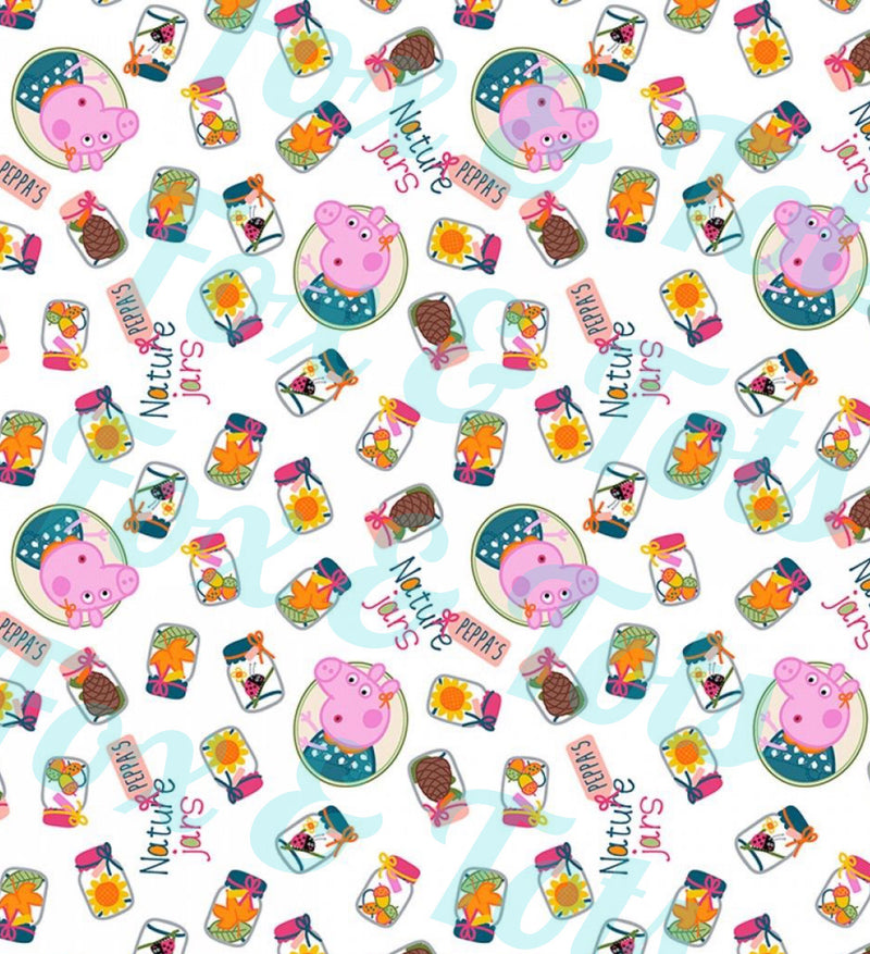 Peppa Nature SMALL SCALE Fabric