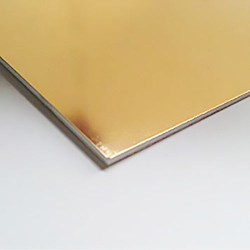 1mm Gold High Impact Polystyrene (HIPS) Sheet