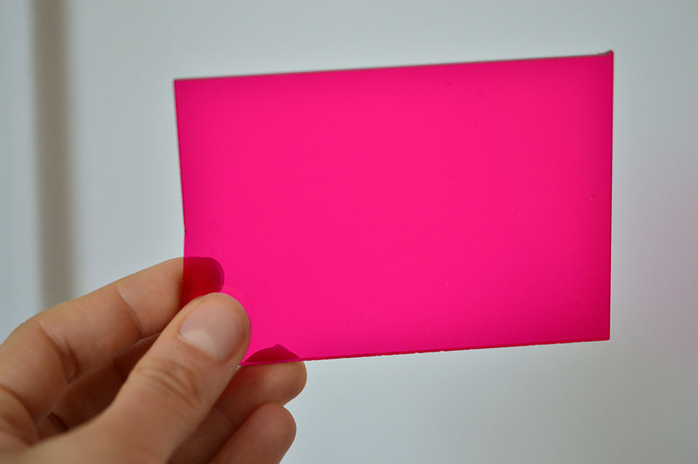 3MM ACRYLIC FLUORESCENT - PINK