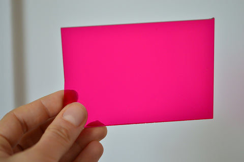 3MM ACRYLIC FLUORESCENT (FLUO/ NEON) TRANSPARENT - PINK