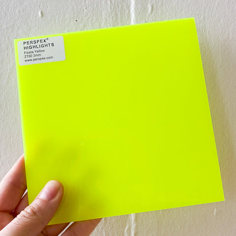 3MM ACRYLIC FLUORESCENT (FLUO/ NEON) TRANSPARENT - ELECTRIC LIME GREEN