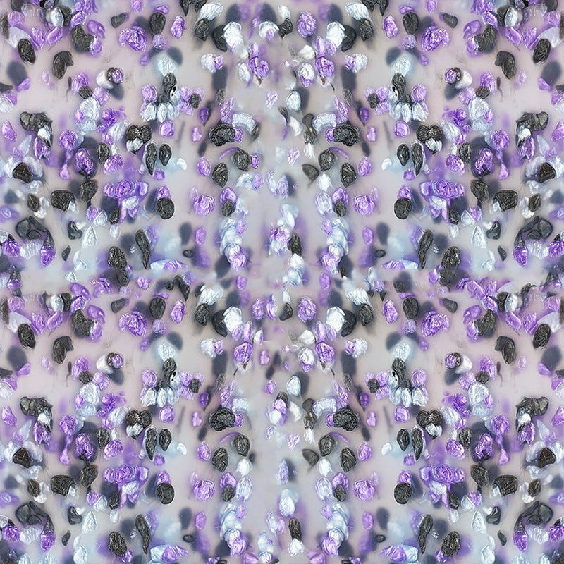 3mm Acrylic - Candy Crystals Ice Cream - Lilac/ silver/ black
