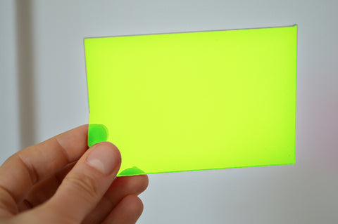 3MM ACRYLIC FLUORESCENT (FLUO/ NEON) - ELECTRIC LIME GREEN