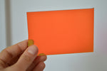 3MM ACRYLIC FLUORESCENT (FLUO/ NEON) TRANSPARENT - ORANGE