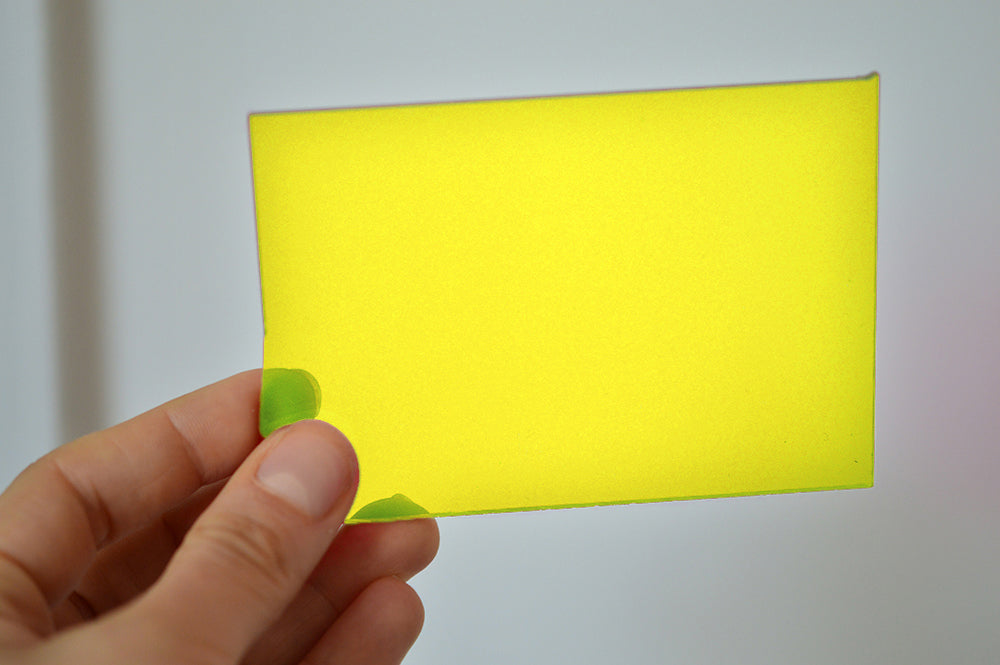 5MM ACRYLIC FLUORESCENT (FLUO/ NEON) - YELLOW