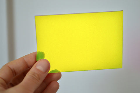 3MM ACRYLIC FLUORESCENT (FLUO/ NEON) TRANSPARENT - YELLOW