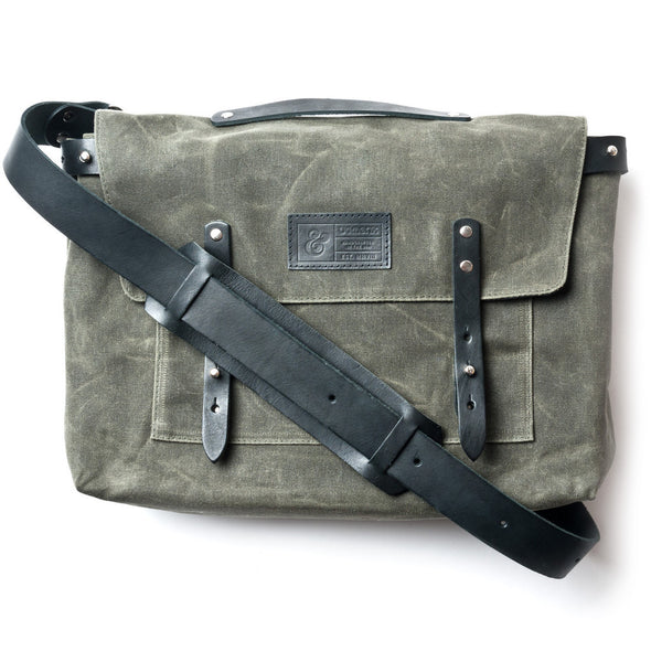 Waxed Canvas Messenger Bag Army