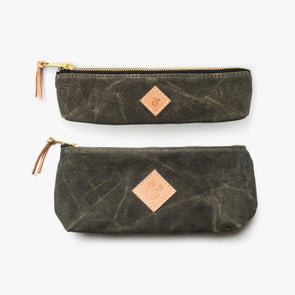 Waxed Canvas Pouch Set