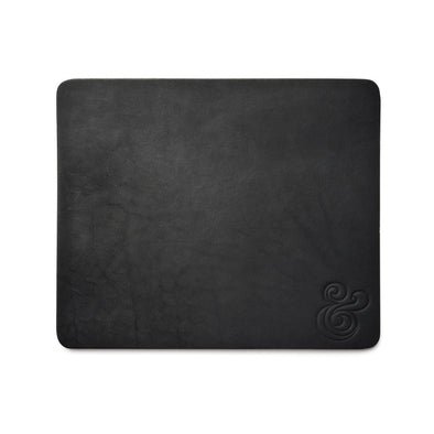 Premium Leather Mousepad Black