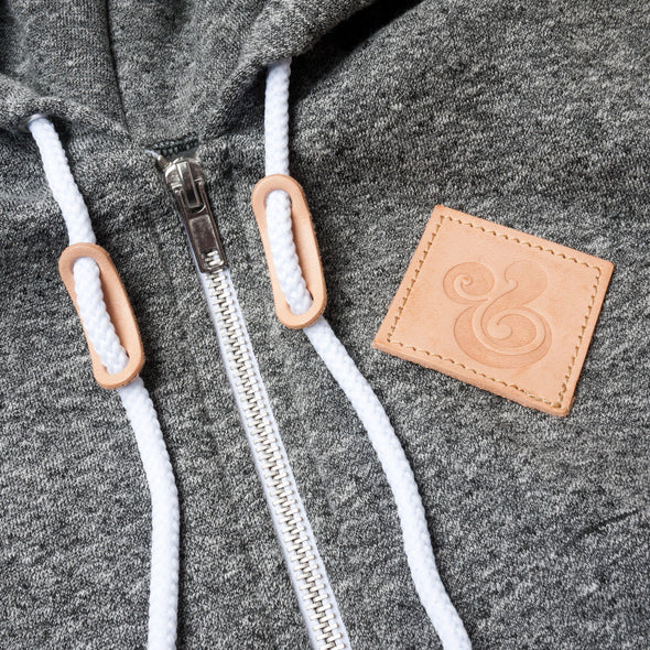 Leather Patch Hoodie