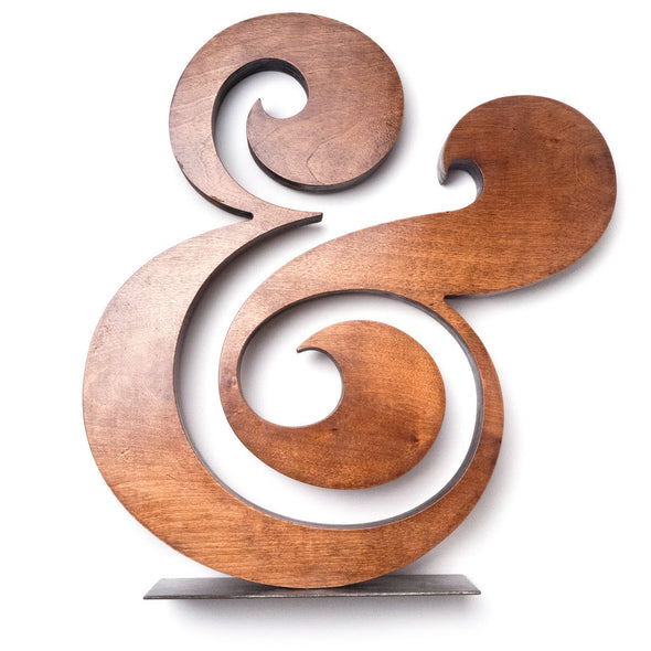 Premium Wood Ampersand 18""
