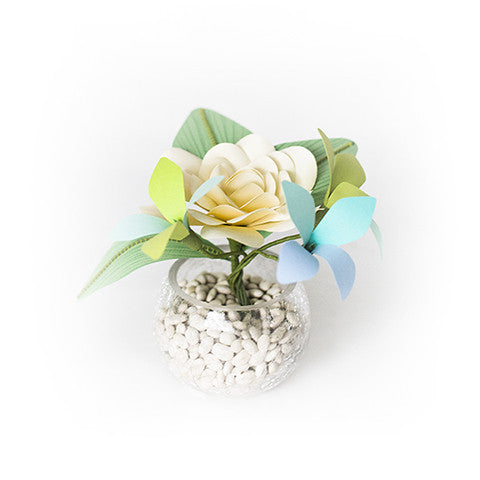 Rose and Hydrangeas in Vase