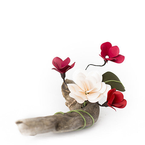Rose on Driftwood