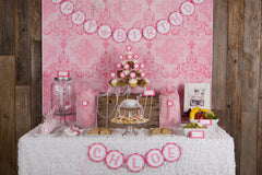 Tea Party Birthday (Hot Pink & Light Pink)