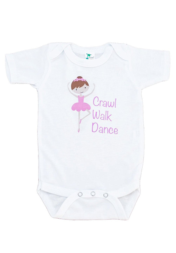 Custom Party Shop Baby Girl's Ballerina Crawl Walk Dance Onepiece