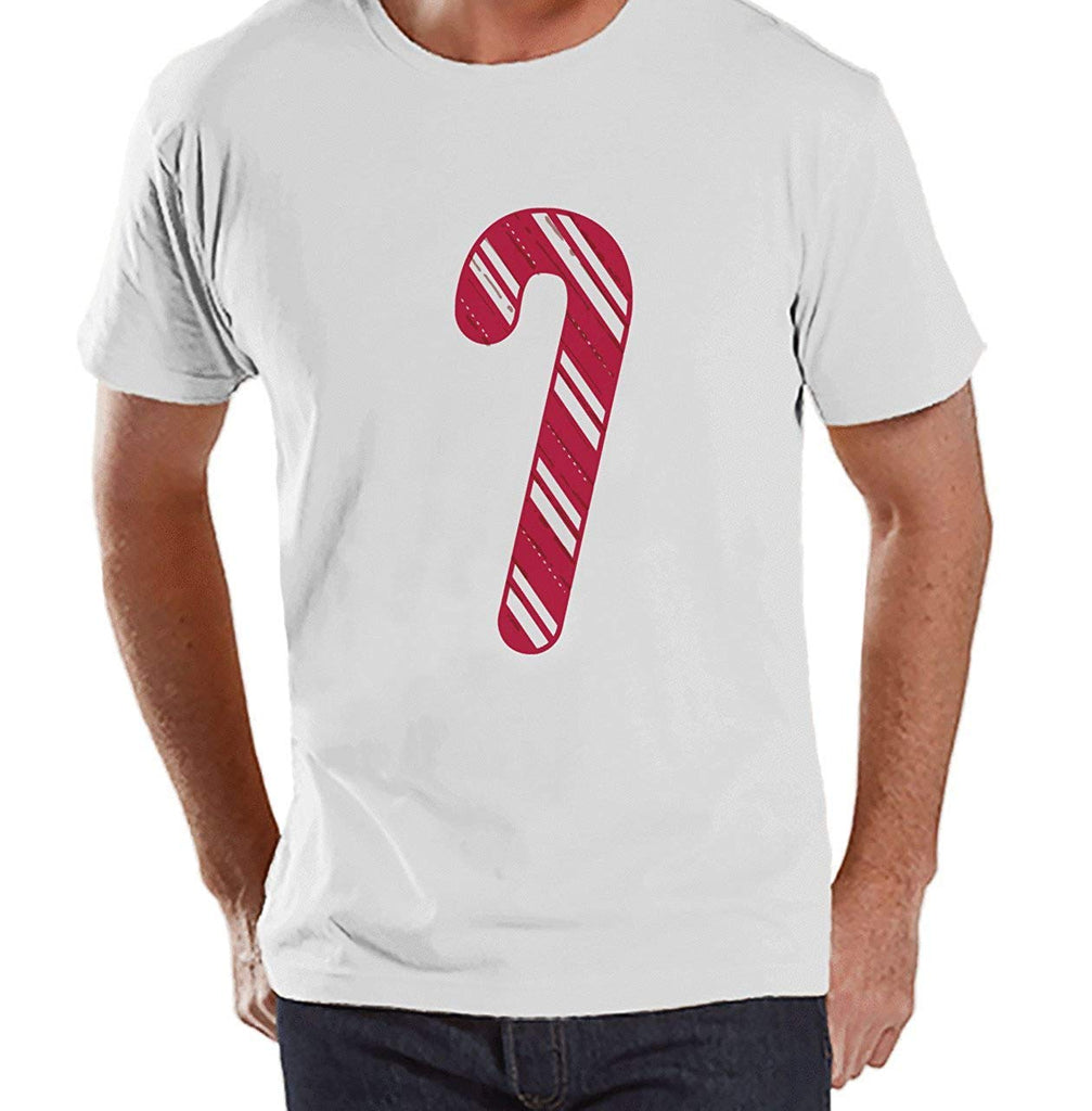 7 at 9 Apparel Men's Candy Cane Christmas T-shirt