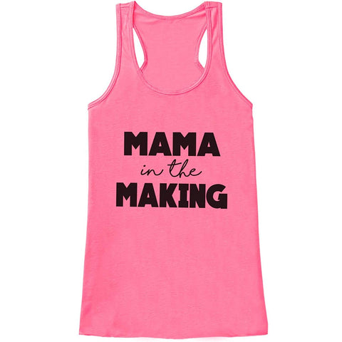 Custom Party Shop Women's Mama In The Making Pregnancy Announcement Tank Top