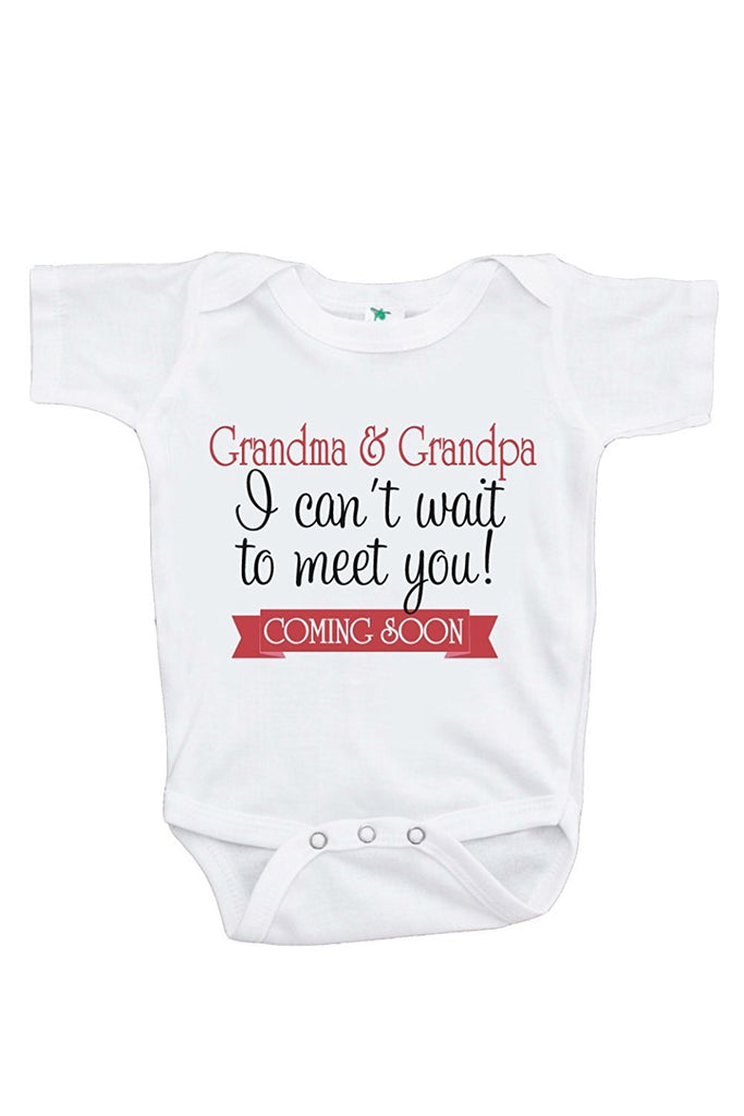 Can't Wait to Meet Grandparents Pregnancy Announcement Onepiece 0-3 Months