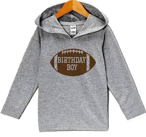 7 ate 9 Apparel Kid's Football Birthday Hoodie