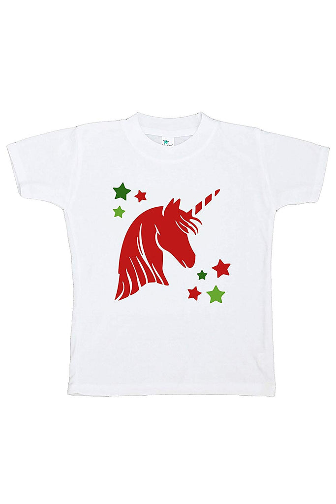 7 ate 9 Apparel Girl's Christmas Unicorn T-Shirt