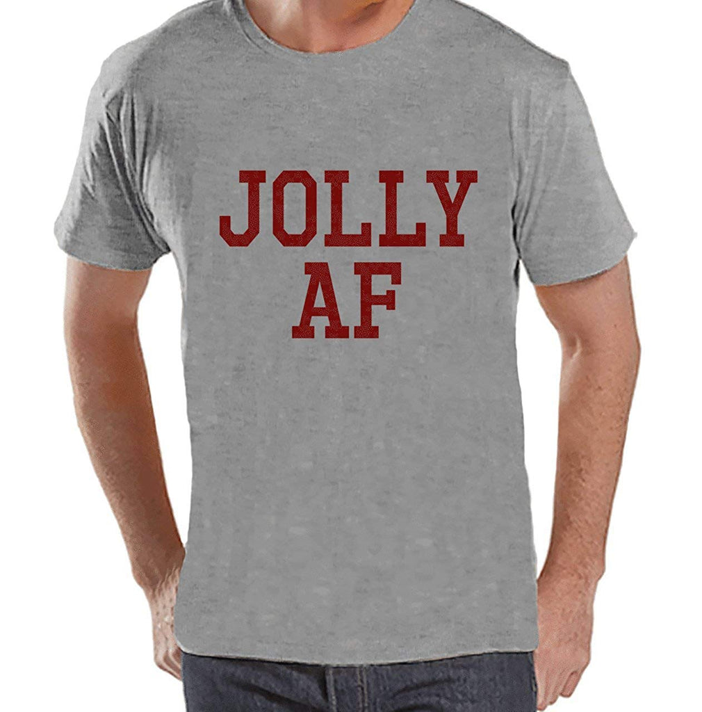 7 at 9 Apparel Men's Jolly AF Christmas T-shirt