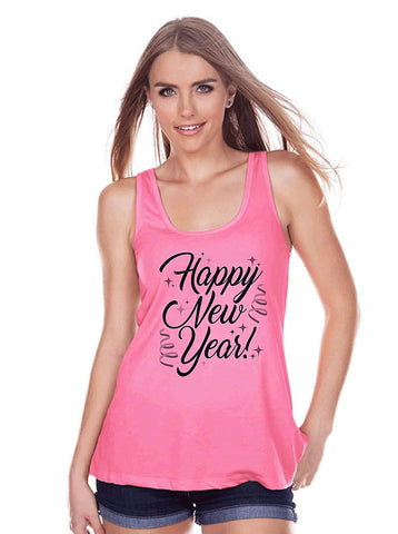 7 at 9 Apparel Women's Happy New Year's Tank Top