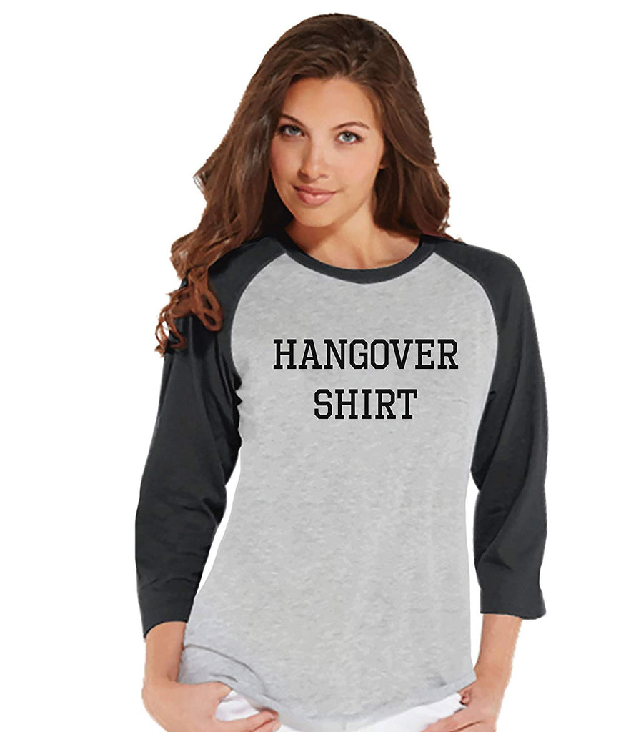 7 at 9 Apparel Women's Funny Hangover Shirt Baseball Tee