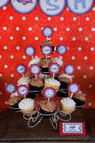 Airplane Cupcake Toppers Baby Shower - Red & Blue - Get The Party Started