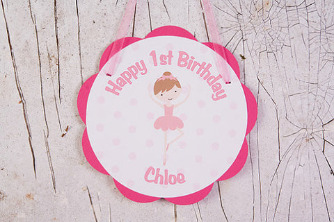Ballerina Door Sign Birthday Party - Get The Party Started