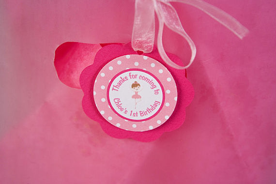 Ballerina Favor Tags Birthday Party - Get The Party Started