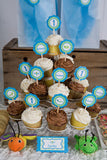 Bug Insect Cupcake Toppers Birthday Party - Aqua & Green - Get The Party Started