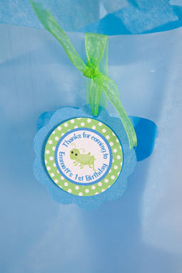 Bug Insect Favor Tags Birthday Party - Aqua & Green - Get The Party Started