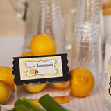 Bumble Bee Food Tents Birthday Party - Black & Yellow - Get The Party Started