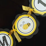 Bumble Bee I Am 1 Mini Banner Birthday Party - Black & Yellow - Get The Party Started