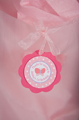 Butterfly Favor Tags Birthday Party - Get The Party Started