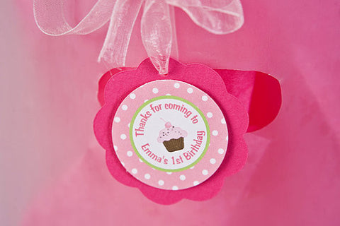 Cupcake Favor Tags Birthday Party - Sweet Shop - Get The Party Started