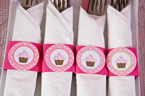 Cupcake Napkin Rings Birthday Party - Sweet Shop - Get The Party Started