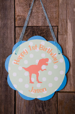Dinosaur Door Sign Birthday Party - Get The Party Started