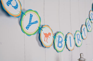 Dinosaur Happy Birthday Banner Large - Get The Party Started