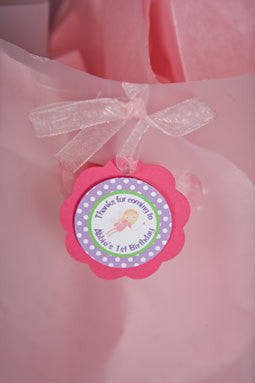 Fairy Favor Tags Birthday Party - Hot Pink & Purple - Get The Party Started