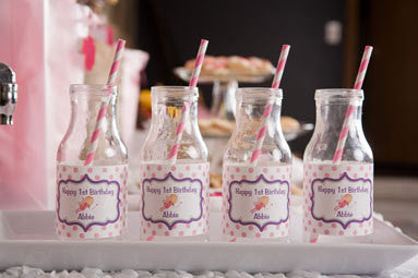 Fairy Water Bottle Labels Birthday Party - Hot Pink & Purple - Get The Party Started