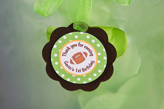 Football Favor Tags Birthday Party - Get The Party Started