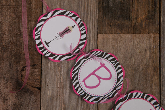 Lingerie Bachelorette Banner - Hot Pink & Zebra - Get The Party Started