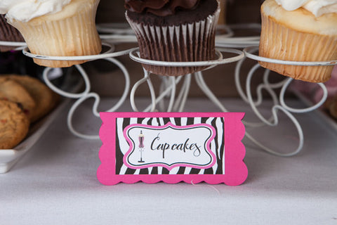 Lingerie Bachelorette Food Tents - Hot Pink & Zebra - Get The Party Started